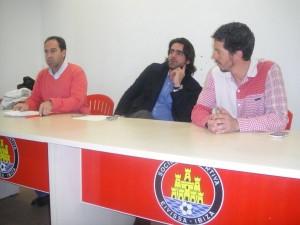 Rueda de prensa de los dirigentes del Ibiza