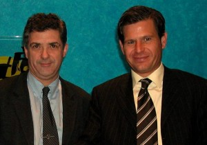 Villar y Alemany, juntos en 2003 con motivo de la final de Copa del Rey.  Foto: Efe