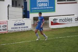 Goleador. El centrocampista logró ante el Dénia su primer gol - Javier