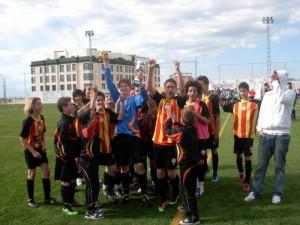 El Sporting celebra su participación en el torneo