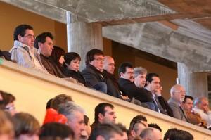 Miquel Jaume en el palco en un partido de su equipo