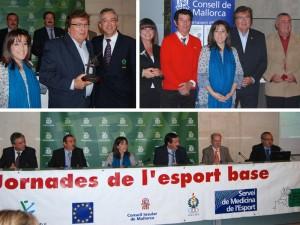 Bestard va rebre la distinció de mans de la Consellera insular d'Esports, Josefina Ramis