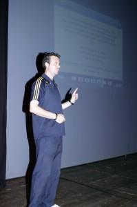 Pedro Bermudez Balbín en un momento de la charla