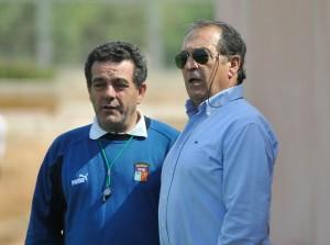 Toni Barea Seleccionador y Jaime Sastre coordinador de selecciones.