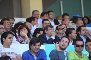 El palco de autoridades del Estadio Balear