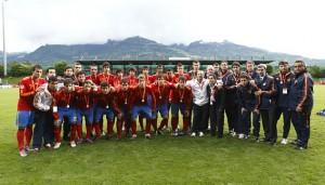 La Selección Sub-17 subcampeona de España