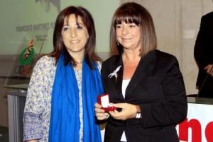 Ana Huertas, colaboradora de Ultima Hora (d), junto a la consellera d'Esports Joventut i Igualtat, Josefina Ramis. 15-05-2010 | Nuria Rincón