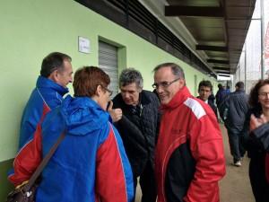 Ángel Maria Villar con Jaime Sastre y Maria Jesús Tamurejo de la Balear