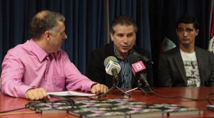 Matias con Orejuela y Chori Castro, su primer y último entrevistado