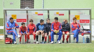 Toni Sánchez en el banquillo de la Selección Balear como ayudante del seleccionador Antonio Barea