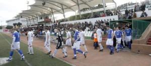 Aspecto de la grada en el partido frente al Sant Rafel.  VICENT MARÍ