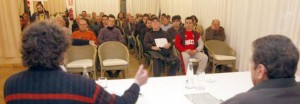 Imagen de la reunión de aficionados de la SD Ibiza que tuvo lugar en enero en el hotel Royal Plaza.  MOISÉS COPA