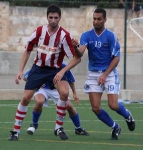 Benja con el Manacor en un partido frente al Sporting Mahones