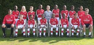 El Arsenal vencedor del partido