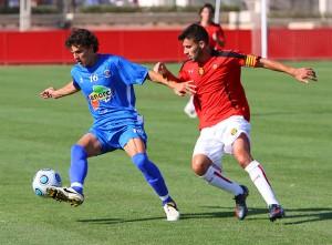 Fransec Fullana en un partido contra el Mallorca