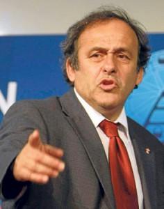 Michel Platini, presidente de la EUEFA