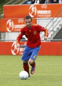 Sergi Darder en el Europeo con la selección Española