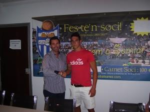 Pedro Bigas con Fernando Crespí, en su presentación