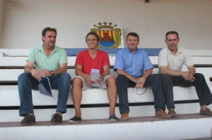 El gerente de Serprosport, Nel Mercadal, Juaneda, Serra y Ogazón