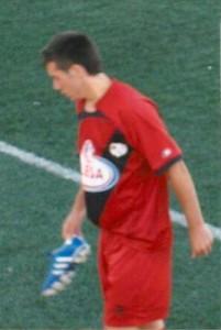 Alvaro. el jugador del Ferreries ha disputado dos amistosos con  el Rayo Vallecano