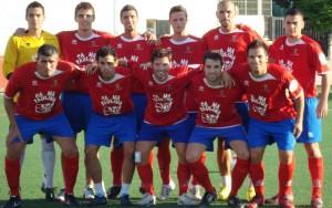 Una alineación titular del Collerense en la pretemporada. .  futbolbalear.es