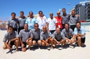 Los colegiados participantes en el campeonato de España