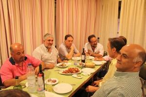 Bernat Coll en la cena con el Llosetense