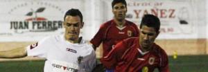 Imagen del partido disputado ayer en San Antoni