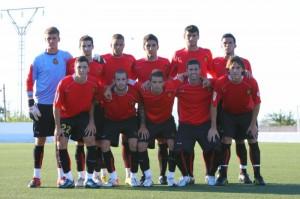 El Mallorca B vence en Es Revolt de Montuïri.Foto Futbolbalear
