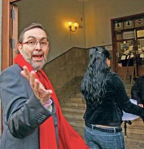 Viceneç Grande, en una de sus comparecencias en los juzgados de Palma