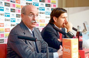 Serrra Ferrer y Mateu Alemany, cuando anunció su intención de desembarcar en el clun