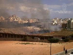 Incendio en el Luis Sitjar