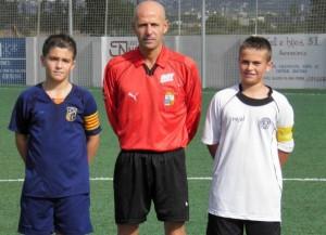 Arbitro con capitanes A.Son Ferriol-Estudiantes