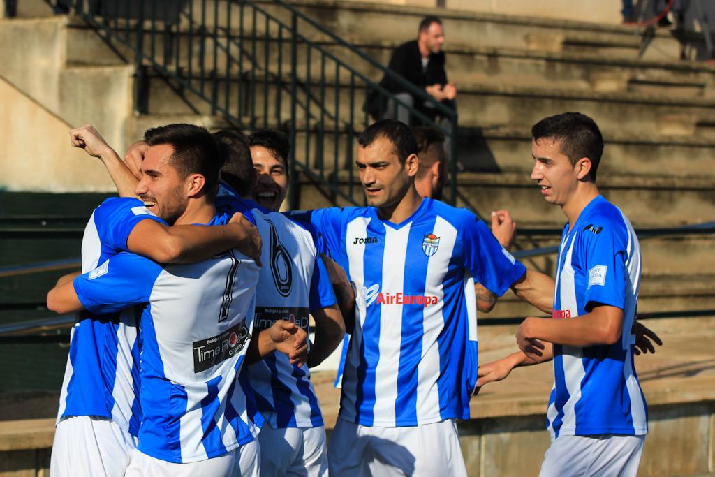 Celebració del gol Balears
