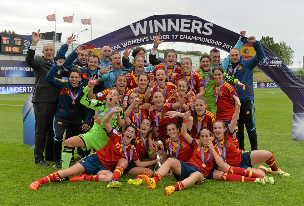 La selección española sub 17 que se proclamó campeona de Europa.