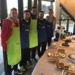 Éder, Joselito, Tomaz y Chicho en el desayuno de Air Europa (1)