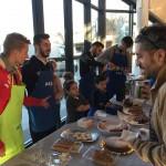 Éder, Joselito, Tomaz y Chicho en el desayuno de Air Europa (2)