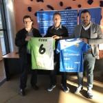 Miquel Jaume, Éder y José Tirado, con las camisetas del Palma Futsal (2)