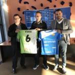 Miquel Jaume, Éder y José Tirado, con las camisetas del Palma Futsal (3)