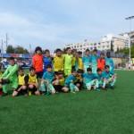 Los dos equipos Barça y Santa Mónica