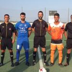 Arbitros y capitanes de los equipos