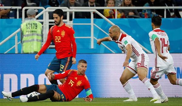 Crónica Copa Mundial de la FIFA Rusia 2018  España 2-2 Marruecos - Fútbol  Internacional dfbb3d91e3ddb