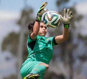 Andrea Vera portera mundialista con la selección ecuatoriana femenina ficha por la UD Collerense RETO Iberdrola