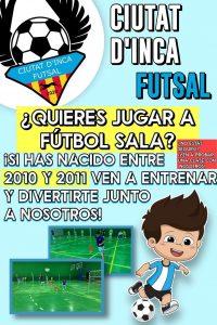 El Ciutat d'Inca Futsal busca jugadores/as categoria Alevin años 2010 y 2011